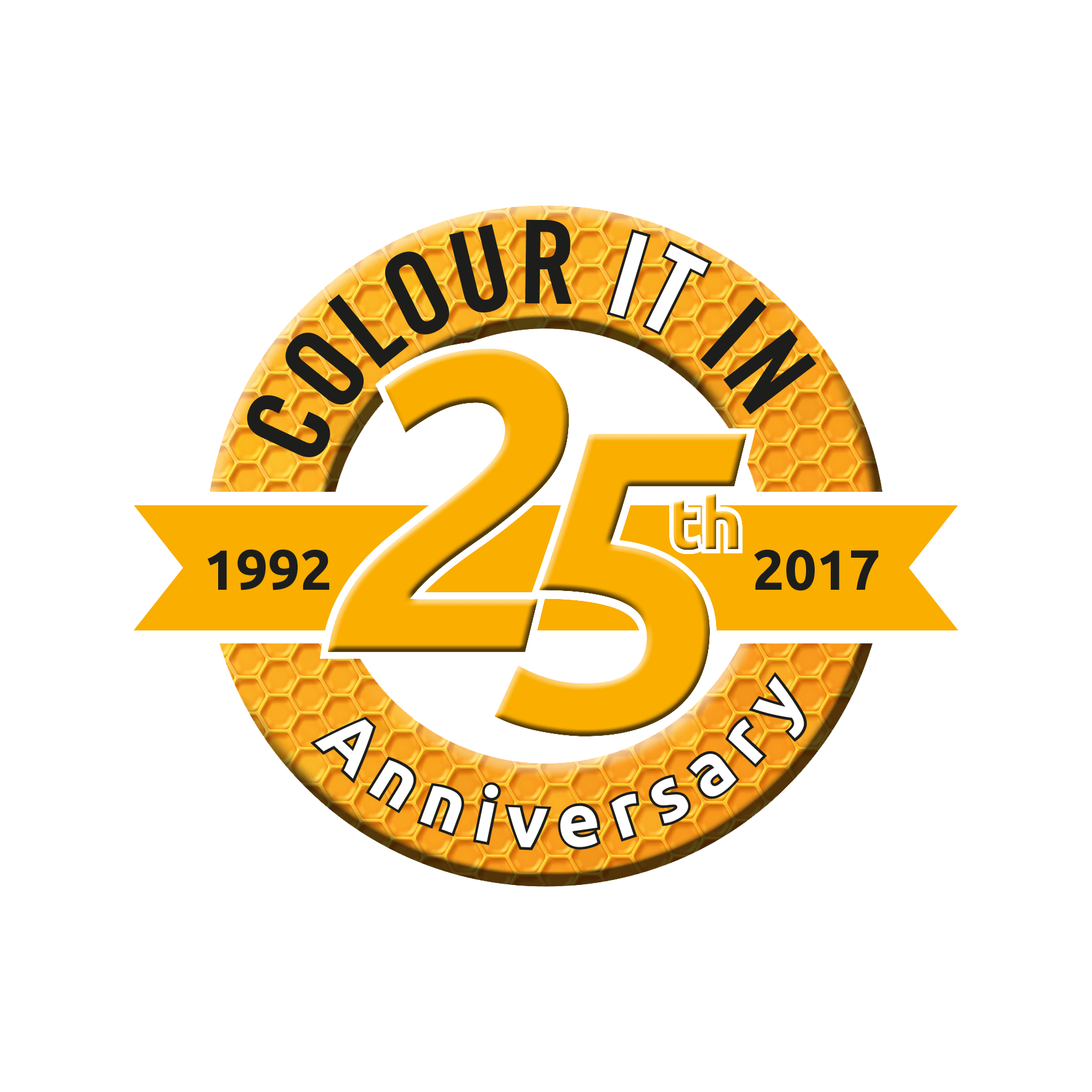 Colour It In 25 Years in Print & Marketing Logo