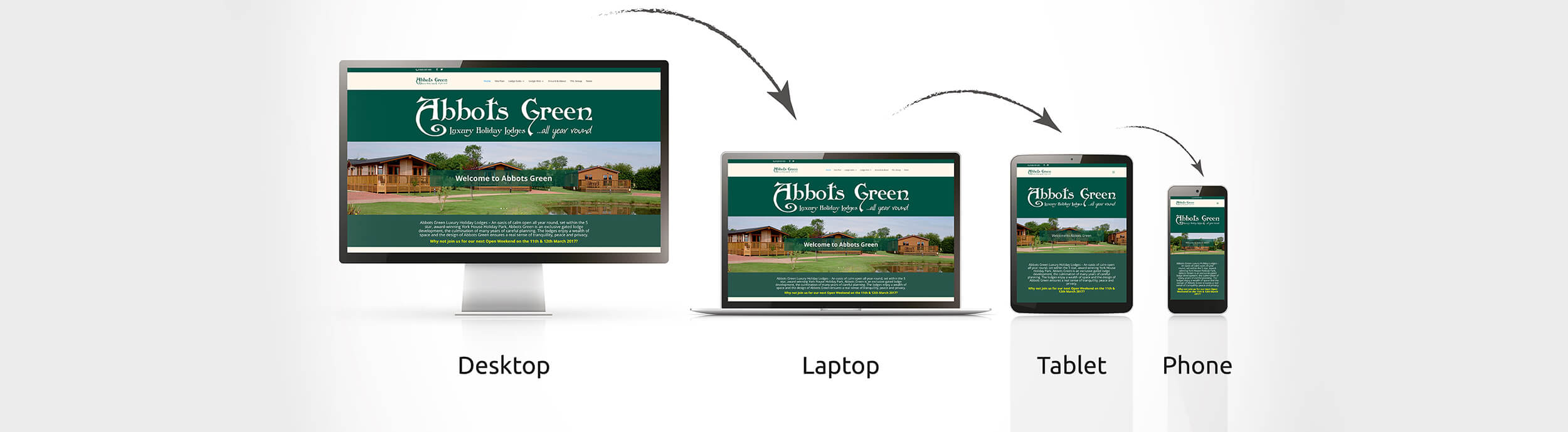 Responsive websites designed by Colour It In