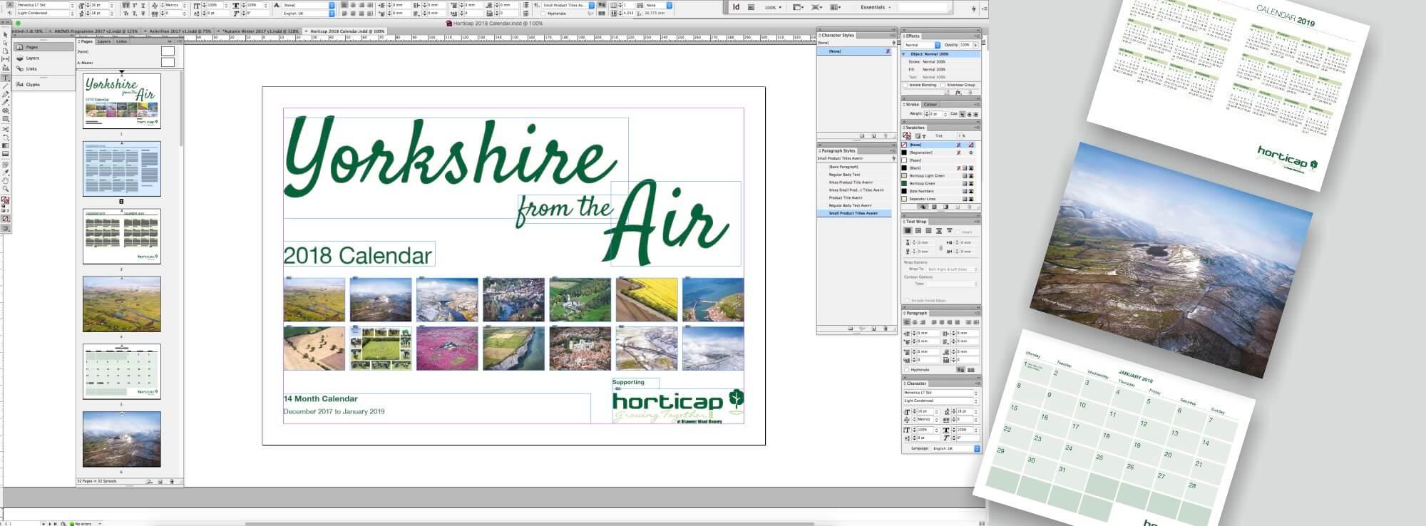 Horticap 2018 Calendar Design & Print