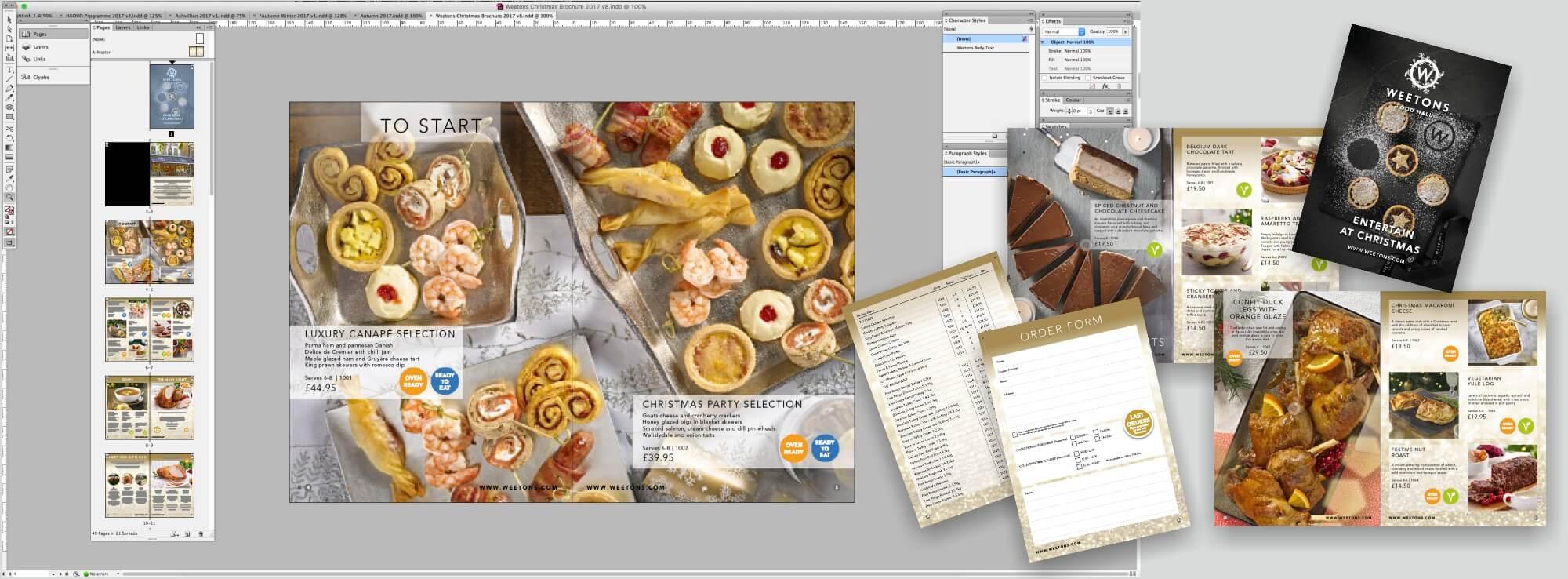 Weetons Christmas Brochure Design & Print