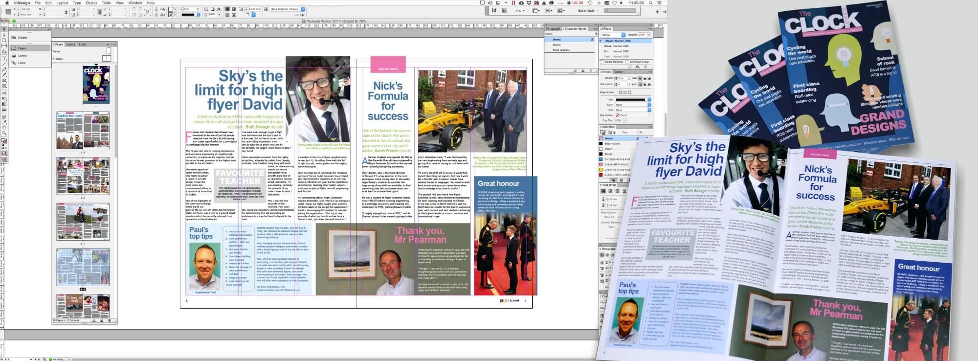 Ripon Grammas School Clocktower Magazine Design & Print