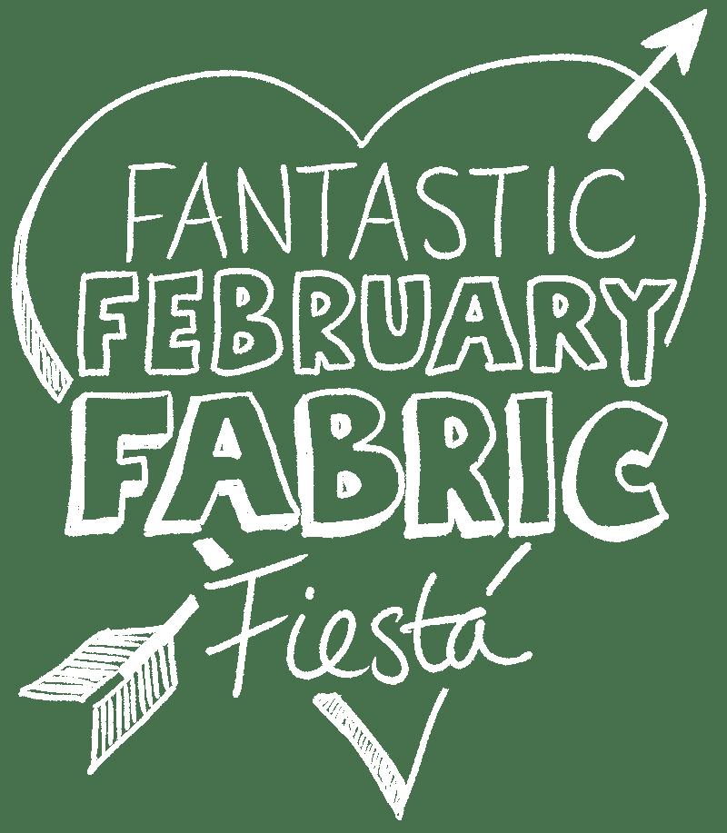Fantastic February Fabric Fiesta white - Colour It In