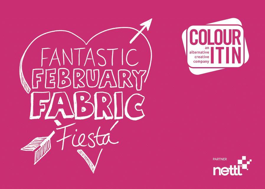 Fantastic February Fabric - Colour It In