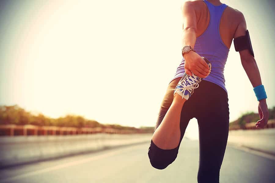 Run warming up