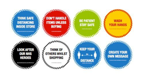 Designs for floor sticker packs